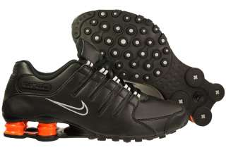 New Mens Nike Shox NZ Black/Team Orange Running Tennis Sneaker R4