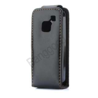 BLACH LEATHER POUCH CASE COVER FOR NOKIA C1 01 C1 01