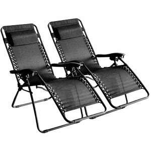 Case of 2 Zero Anti Gravity Adjustable Padded Recliner