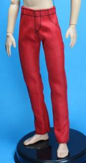 Denim Red Black Skinny Jeans Pants for Liv Jake doll