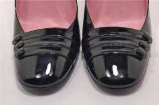 BLACK PATENT Leather PUMPS Like NU Beautiful Details 38.5 US 8.5