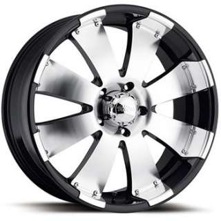 20x9 Machined Black Wheel Ultra Mako 6x5.5 Rims