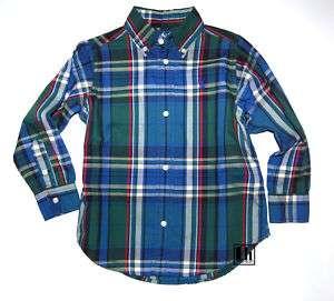 NWT Ralph Lauren Boys Blake Cotton Plaid Shirt
