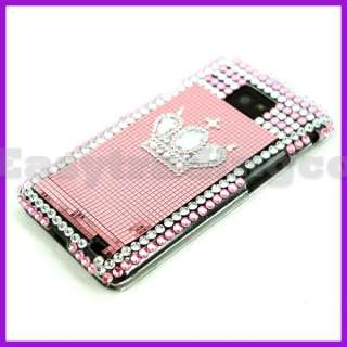Bling Case Cover Samsung i9100 Galaxy S II Pink Crown