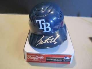 Sam Fuld Autographed Tampa Bay Rays Mini Helmet *Great Price*