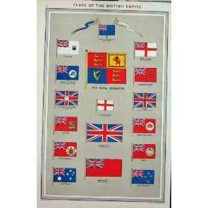 FLAGS c1880 BRITISH EMPIRE UNION JACK ROYAL STANDARD