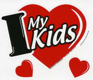 Love My Kids 3 in 1 Heart Car Magnet