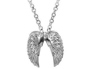 JS07 High Quality 316L Stainless Steel Silver Angels Wings Fashion