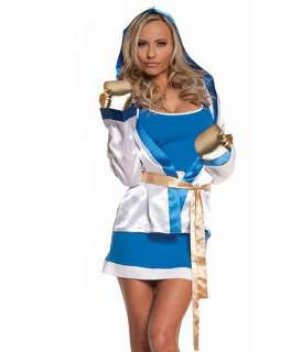 Sexy Boxer Girl Women Fighter Costume Halloween Cosplay Dress Game