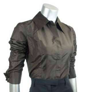 Sutton Studio Womens Silk Taffeta Blouse TieTop Plus