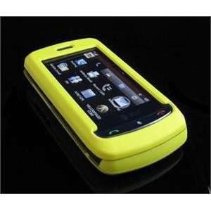 YELLOW Hard Plastic Full View Rubber Feel Cover Case w/ Screen