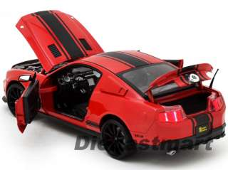 COLLECTIBLES 118 2012 SHELBY GT500 SUPER SNAKE NEW DIECAST RED
