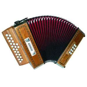 NEW HOHNER ACCORDION MERLIN DIATONIC VIENNA STYLE GC 21/8