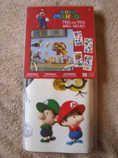 NINTENDO Super Mario 35pc Wall Stickers Applique Room Decor