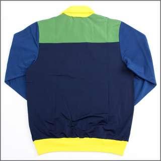 ADIDAS SPORT FIREBIRD TRACK TOP BLUE/GREEN Jacket sz L