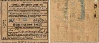 1938 Central Greyhound Lines Bus Tickets Brownsville Tx