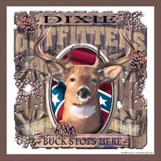 Metal Sign Dixie Outfitters Buck Stops Here collectible