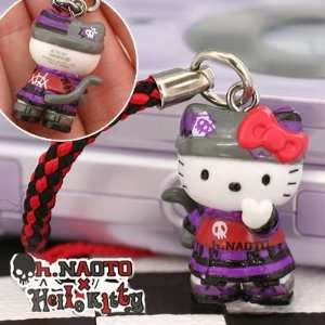 Sanrio Hello Kitty x h. NAOTO Gothloli Punk Kitty Netsuke