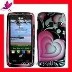 Premium 2D PINK LOVELY HEART Snap On Case Cover for Str