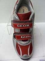 Geox sport ~ Jr. Extra B Mesh + Geo Buck ~ new in box ~ black/red