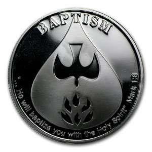 2012 1 oz Baptism Silver Round (w/Gift Box & Capsule