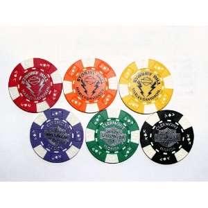 Stormy Hill Harley Davidson Store Imprint Poker Chips