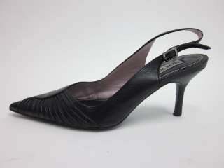 STEVE MADDEN Black Leather Slingbacks Pumps Heels Sz 6