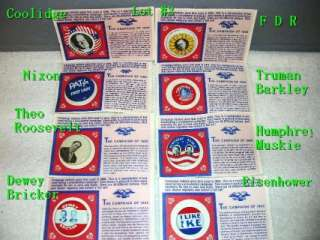 Lot of 8, Political Campaign Buttons #3