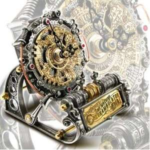 Time Machine Chronambulator Dial Steampunk Desk Clock Home & Kitchen