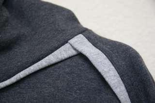 SS08 Dior Homme Charcoal Hooded Sweatshirt Sweater Hoodie Hoody L
