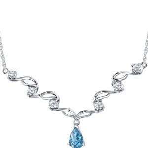 Eye catchy 1.50 carats total weight Pear Shape Swiss Blue