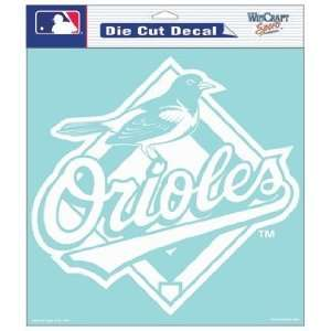 MLB Baltimore Orioles 8 X 8 Die Cut Decal Sports