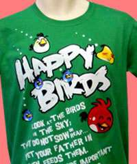 Angry Birds Spoof   Catholic T shirt