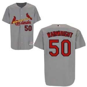 2012 New MLB St. Louis Cardinals #50 Wainwright White/grey