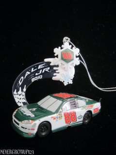 2010 DALE EARNHARDT JR #88 NASCAR RACE CAR ORNAMENT~NIB