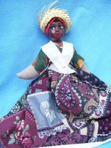 CARIBBEAN ISLANDS HANDMADE PRIMITIVE DOLL STRAW HAT 9