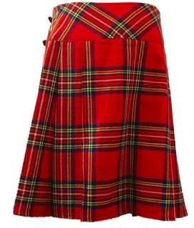 Royal Stewart 23 Tartan Plaid Kilt Skirt Size 6   28