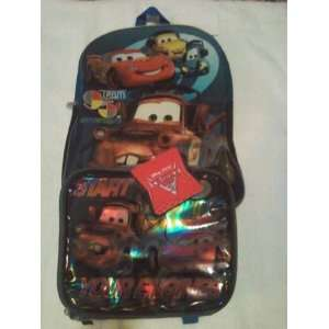 DISNEY PIXAR CARS 2 BACKPACK AND LUNCH BOX [SOFT] Toys