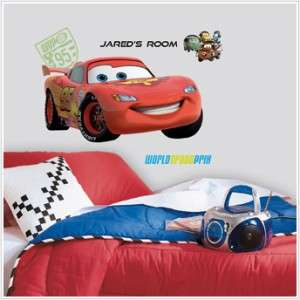 New GIANT LIGHTNING MCQUEEN PERSONALIZED WALL DECALS Disney Cars