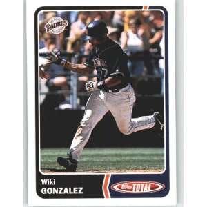 2003 Topps Total #857 Wiki Gonzalez   San Diego Padres