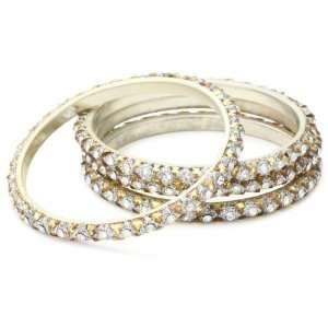 Chamak by priya kakkar 4 White Crystal Bangle Bracelet