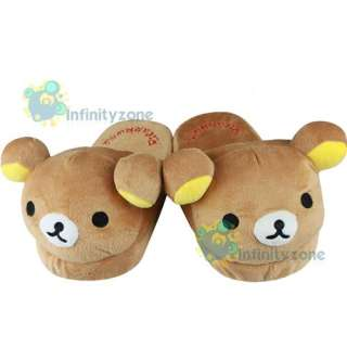 NEW SAN X Rilakkuma Bear Cute Plush Doll Slipper #D
