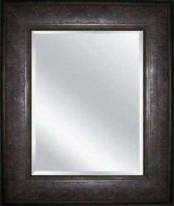 Marcello Framed Wall Mirror Dark Rustic Charcoal
