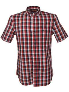 Mens French Connection FCUK Red Checked Gingham Shirt