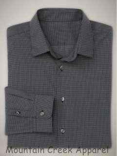 NWT GAP Mens Slim Fit Checked Cotton Shirt Black M
