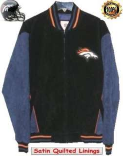 Suede Leather Jacket   The Denver Broncos