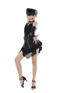 Lady/child Ballroom Latin Dance Dress Overall Sleeves