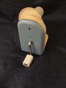 Vintage Silver Yarn Winder Hand Crank Winding Machine