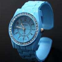 Nice Blue Lady Girl Analog Dress Bracelet Watch, SCH