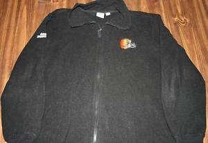 CLEVELAND BROWNS fleece jacket XL embroidery SI logo